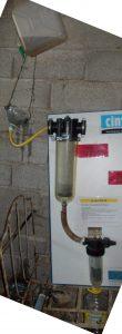 Filtration avec cartouche eau
